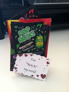 Homemade Valentine Idea:  You Rock My World