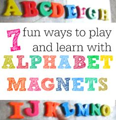 We have 7 fun #literacy activities you can do with alphabet magnets! Find them in our #RaiseaReader blog. Click for more.