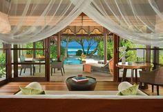 Beautiful Moment in Maldives with Remarkable Remote Resort : Interior Resort Decorating With Rattan Chair And Wooden Ideas Also Beautiful Vi...