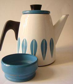 Catherineholm - Lotus- enamel coffee pot and sugar bowl