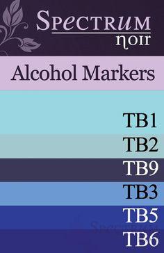 Spectrum Noir Alcohol Markers: Blues