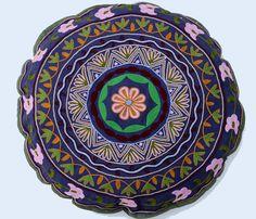 round suzani, suzani pillow, etsi, 4800, hous, dark blue, blues, pillows
