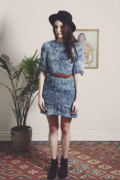 halton hand knit merino sweater dress from Good Night, Day