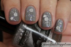 Canvas Nails: Crowstoes Halloween 2012 Collection