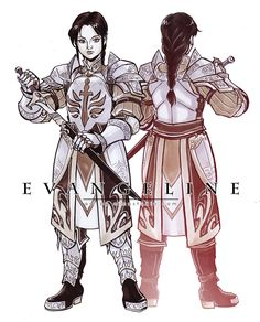 Aimo's Sketch Cards - Dragon Age: Asunder Character Design Commission - Evangeline