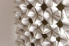 Origami Textiles - 3D surface design using sustainable jacroki fabric - fabric manipulation; textural textiles // Elena Salmistraro
