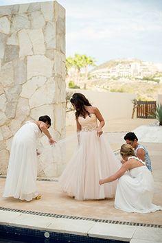 Getting the bride ready! #MexicoWedding | Photo By: http://julia-franzosa.com