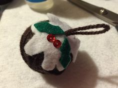 No sew Christmas pud