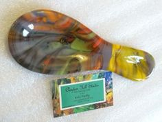 Fused Glass Spoon Rest - Fall Lava