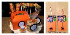 Halloween goodies from last year #vinyl from #Pickyourplum Made the cute boxes with my @Cricut