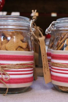 Christmas biscuits - glass jars available from Malsar Kest Ltd  www.malsarkest.co.uk