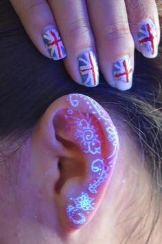 UV Tattoo On Ear