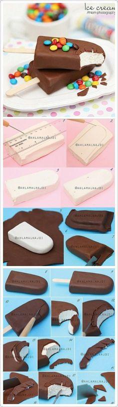 I've Cream Bar Polymer Clay Tutorial