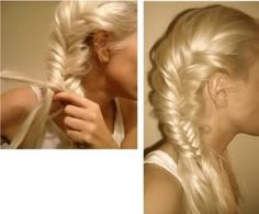 Side fishtail braid is officially my new go-to look, looks best messy in my opinion
