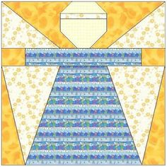 ALL STITCHES - ANGEL PAPER PIECING QUILT BLOCK PATTERN .PDF -001A | AllStitches - Patterns on ArtFire