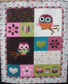 Owl Tree Quilt. Cute!