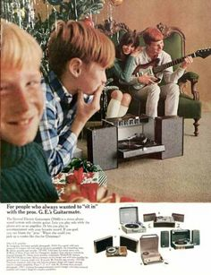 G.E. Guitarmate audio amp sets, 1966. The Saturday Evening Post.