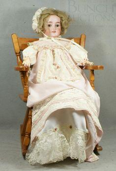 CM Bergmann Simon & Halbig Bisque Head Doll, with