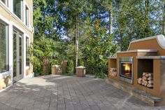 It's not too often one finds an outdoor fireplace like this one! Bellevue, WA Coldwell Banker BAIN $2,388,000