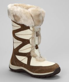Got to find these, this site only has an 11 left Take a look at this White & Tan Marker Boot - Women by Khombu on #zulily today!