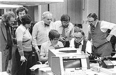On Iowa caucus night in 1980, I was the primary editor on the Republican story. Here we call George H.W. Bush the winner on deadline, with, from left, Dan Petersen, Paul Leavitt, Merrill Perlman, Michael Gartner, Jim Gannon, Jim Flansburg and Arnie Garson helping/watching. As an editor and reporter for four different newspapers, I have covered seven Iowa caucus campaigns: http://stevebuttry.wordpress.com/2012/01/03/memories-of-covering-seven-iowa-caucuses-in-four-decades/