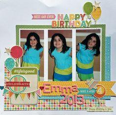 Emma 2013 Layout by Kim Holmes via Jillibean Soup Blog