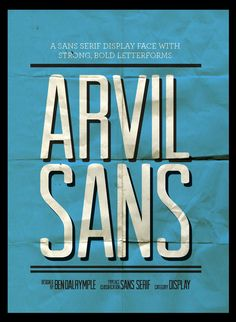 Arvil Sans Type Face from Lost Type Co-Op