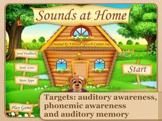 AUditory skills app- sounds at home