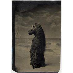 woman on beach, c. 1880