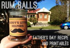 Father's day DIY gift free printables and rum balls recipe Patchowork Cactus