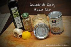 Quick & Easy Bean Dip  #healthy #snacks www.motivatingothermoms.com