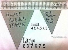 How to Make a Pennant Banner | @PluckingDaisy #DCWV #RangerInk #Tutorial