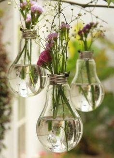 hanging lights, bud vases, wedding decorations, hanging flowers, bulb, flower vases, flower pots, garden, parti