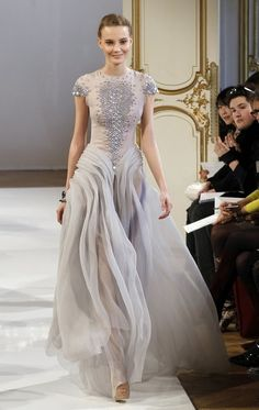 christoph joss, wedding dressses, chanel, fashion, style, evening gowns, grey, couture dresses, silver weddings