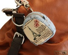 Zippered key pouches sewing pattern two sizes  by NapkittenPattern, $6.50