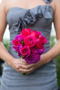 Bridesmaid's Bouquet - More than just a POP of PINK!