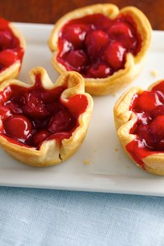 Delicious buttery mini pies with sweet cherry pie filling!