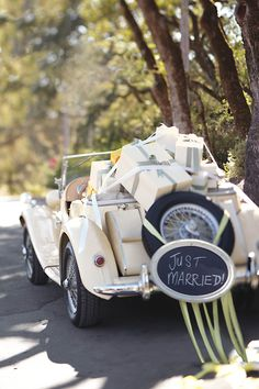 Packed with presents & just married!