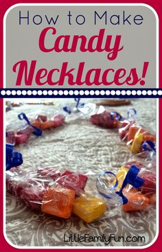 How to make Candy Necklaces. Great idea for Graduation or Birthdays!! Candy Leis.