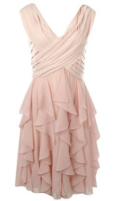 Ruffled Pink Party Dress