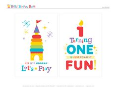 FREE Royal First Birthday Party Printables!!