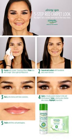 Learn how to get red carpet-ready from celebrity makeup artist Gita Bass with this @simpleskincare smokey eye tutorial.  #KindtoCitySkin