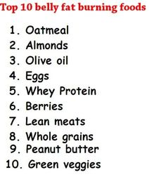 Belly Fat Burning Foods. Post-New Years