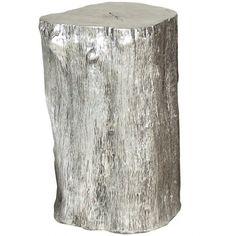 Silver Log Stool