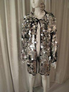 1960 s Silver Pailette vintage jacket