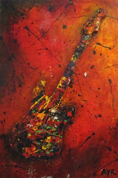 """""""Wonderful Tonight"""" painting inspired by Eric Clapton Oil on Cotton Duct Canvas Created by Contemporary artist Melissa Ayr    Enjoy!!!"""