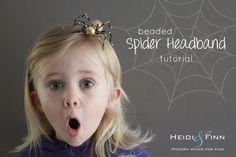 HeidiandFinn modern wears for kids: Beaded Spider Headband - tutorial
