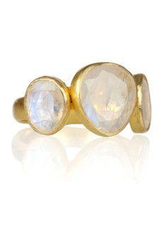 Pippa Small  18-karat gold moonstone ring