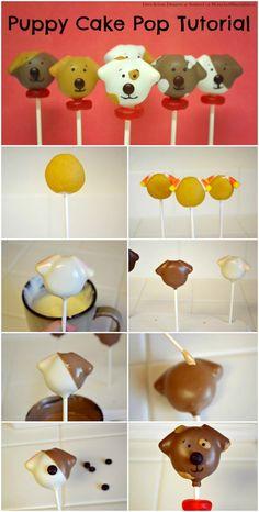 dog cakes, cake pops, cake decor, puppi cake, cakepop