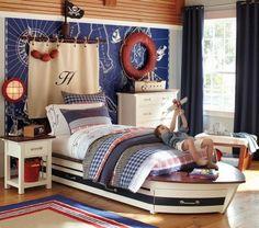 Nautical theme boys bedroom.